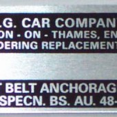 Midget LMG1023 MGC Chassis Plate For MGB